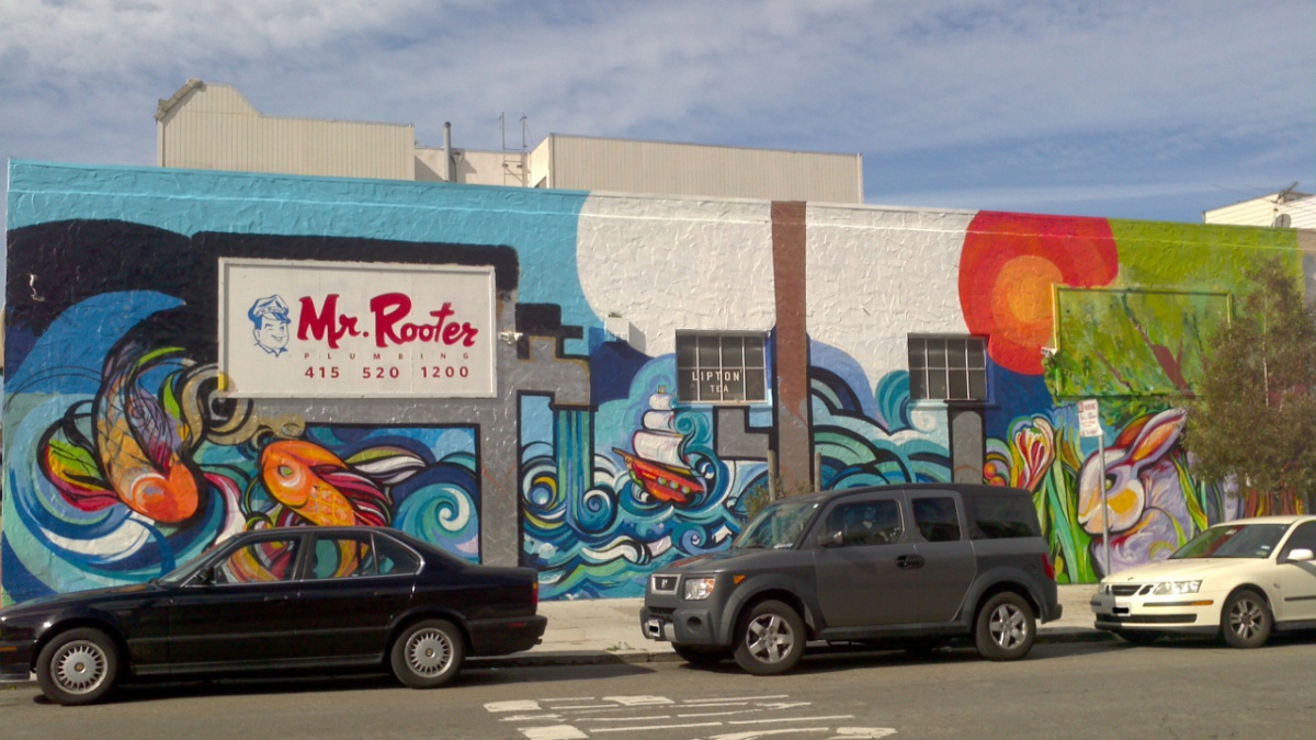 Mr. Rooter Mural - Front View