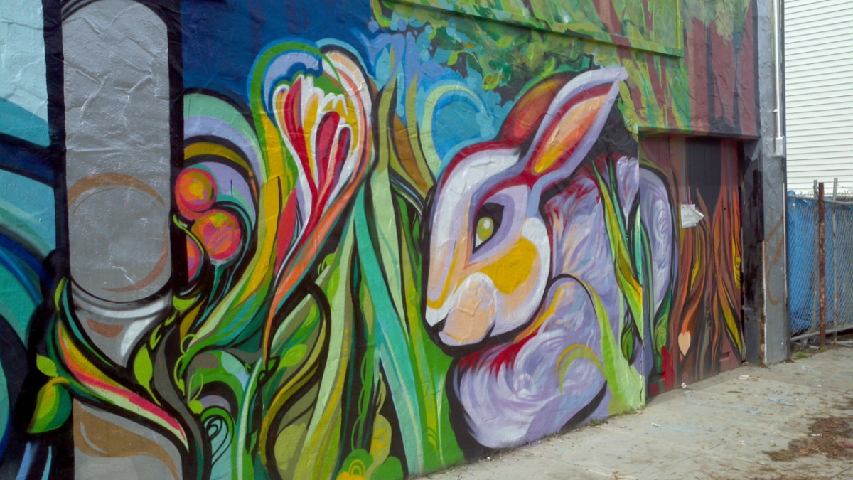 Mr. Rooter Mural - Bunny